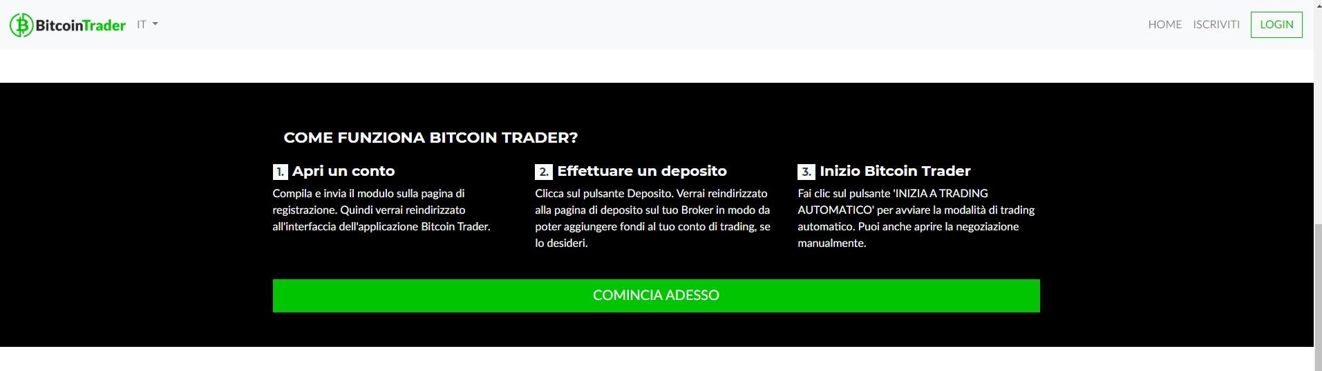 Recensione di Bitcoin Trader: truffa o no? I risultati Svelati - Immagine