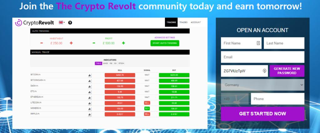 Crypto Revolt è una TRUFFA?🥇| Leggere Prima di Iniziare - bitcoinevolution  1024x426